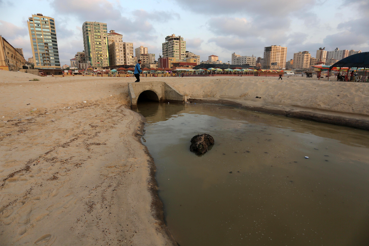 Sewage Gaza City